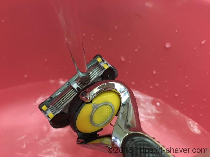 T字カミソリの洗い方